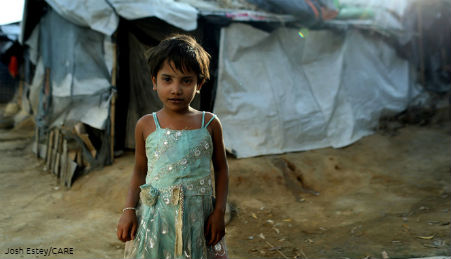 A refugee girl in Yemen.