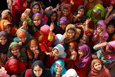Girls celebrating in India